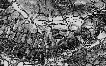 Old map of Bucklebury in 1895