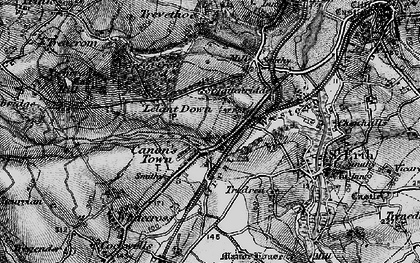 Old map of Canonstown in 1896