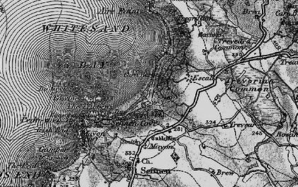 Old map of Carn Keys in 1895
