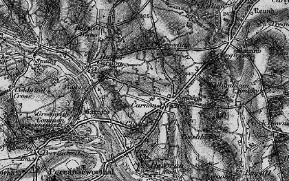Old map of Carnon Downs in 1895
