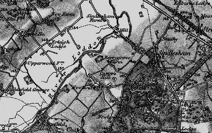 Old map of Carter's Hill in 1895