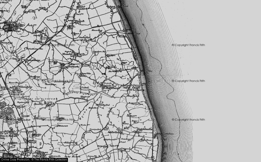 Old Map of Map of Chapel St Leonards in 1898