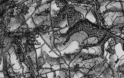 Old map of Charaton Cross in 1895