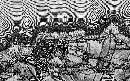 Old map of Cliftonville in 1895