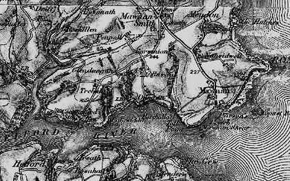 Old map of Durgan in 1895