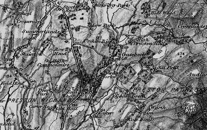 Old map of Endmoor in 1898