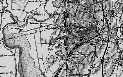 Old map of Heversham in 1898