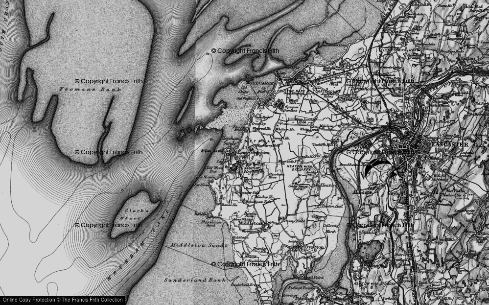 Old Map of Map of Heysham in 1898