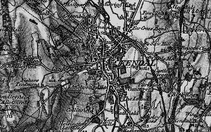 Old map of Kendal in 1897