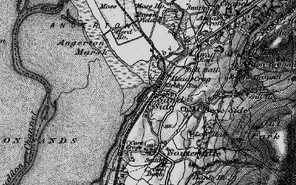 Old map of Kirkby-in-Furness in 1897