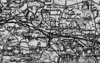Old map of Low Bentham in 1898