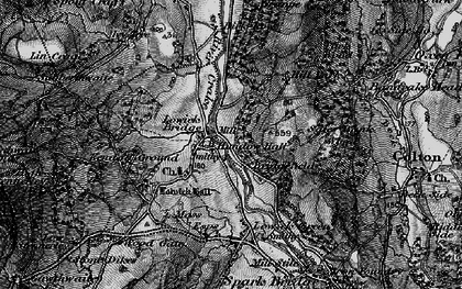 Old map of Lowick Bridge in 1897