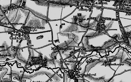 Old map of Marlingford in 1898