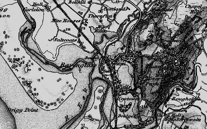 Old map of Ravenglass in 1897