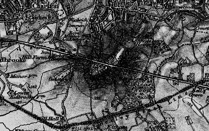Old map of Shooters Hill in 1896