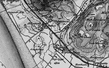 Old map of Silecroft in 1897