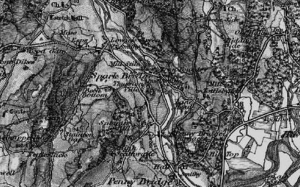 Old map of Spark Bridge in 1897