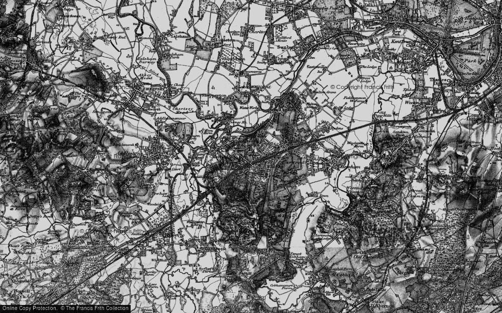 Old Map of Map of Weybridge in 1896