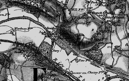 Old map of Mapledurham in 1895