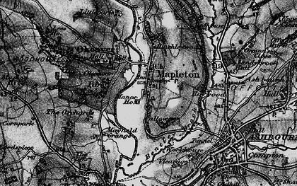 Old map of Mapleton in 1897