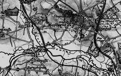 Old map of Mapplewell in 1896