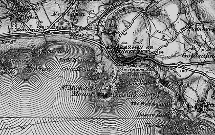 Old map of St Michael's Mount in 1895