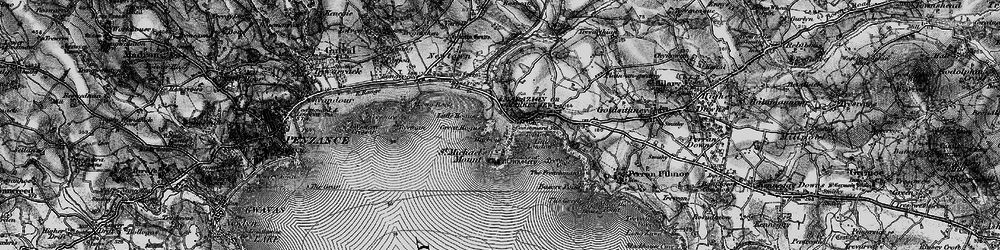 Old map of Marazion in 1895