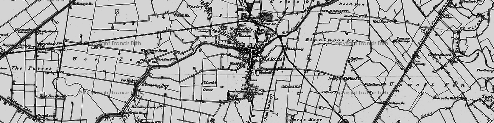 Old map of March in 1898