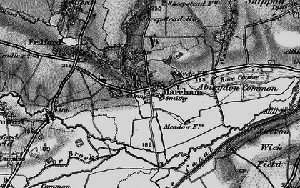Old map of Abingdon Common in 1895