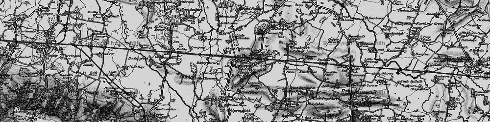 Old map of Marden in 1895