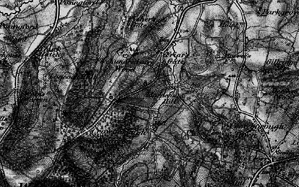Old map of Wood Eaves in 1895