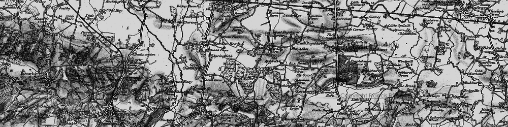 Old map of Widehurst in 1895