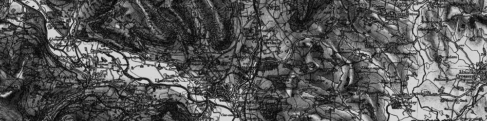 Old map of Afon Gafenni in 1896