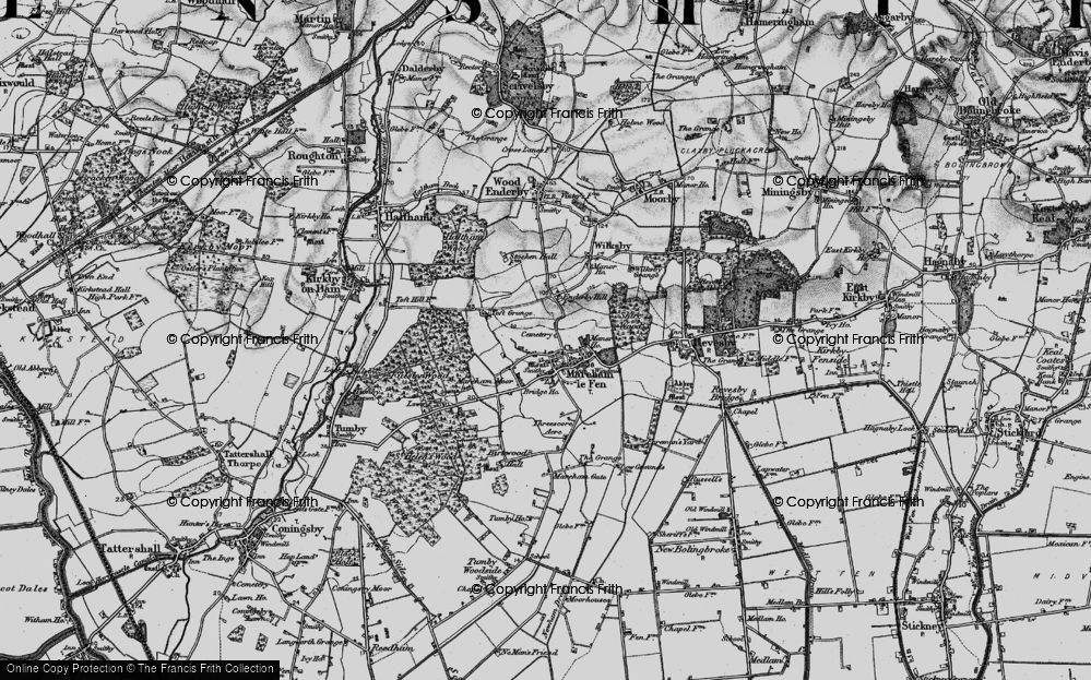 Old Map of Historic Map covering Toft Grange in 1899
