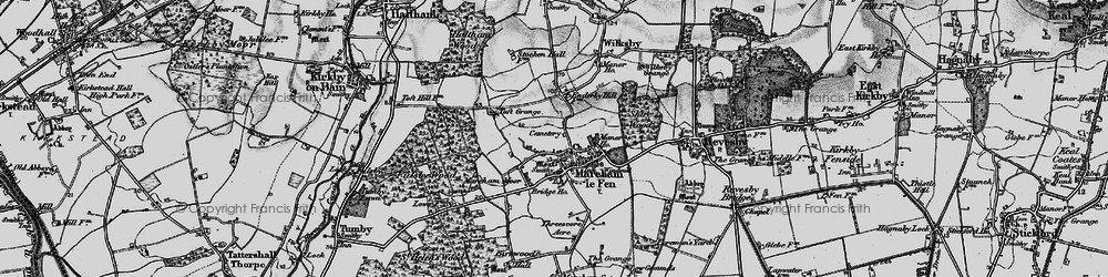 Old map of Mareham le Fen in 1899