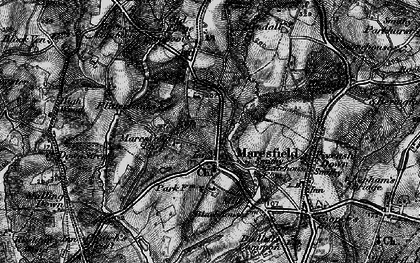 Old map of Maresfield in 1895