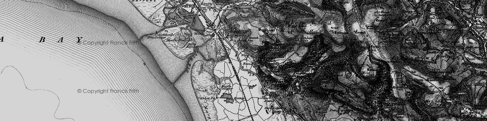 Old map of Margam in 1897