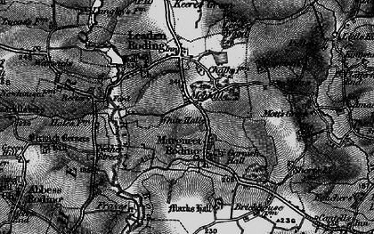 Old map of White Hall in 1896