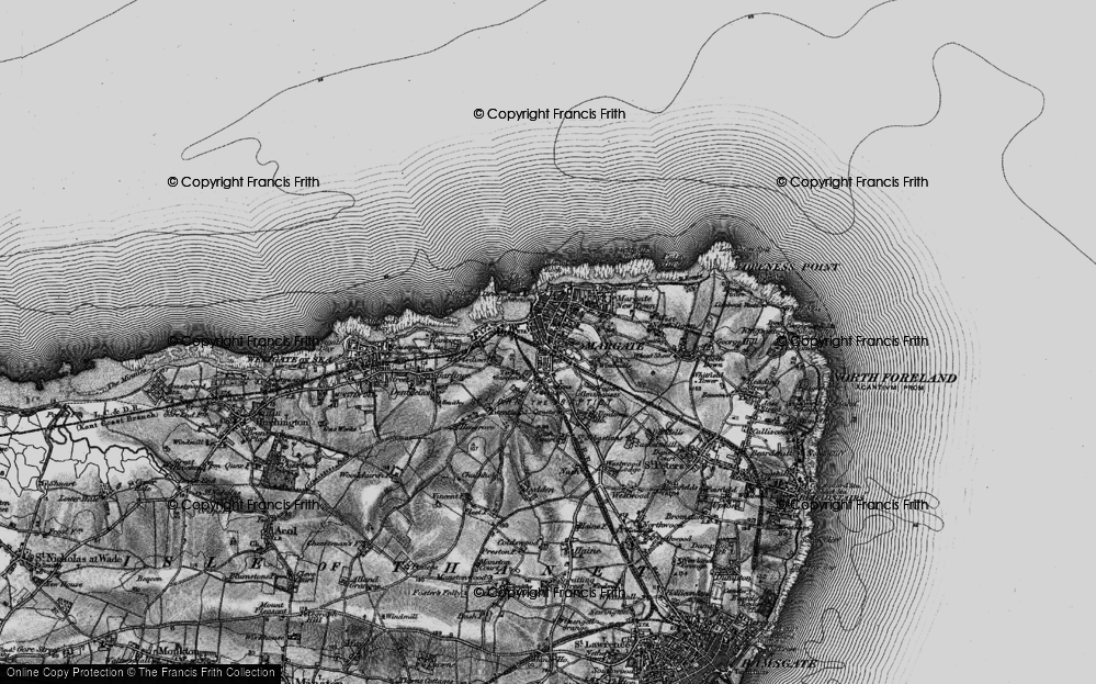 Old Map of Margate, 1895 in 1895