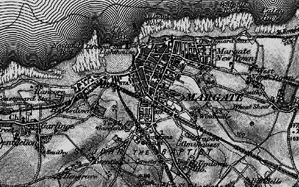 Old map of Margate in 1895