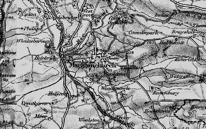 Old map of Wooldown in 1896