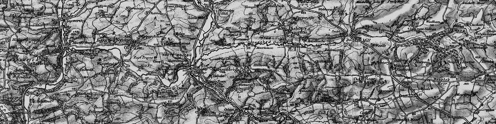 Old map of Tidlake in 1898