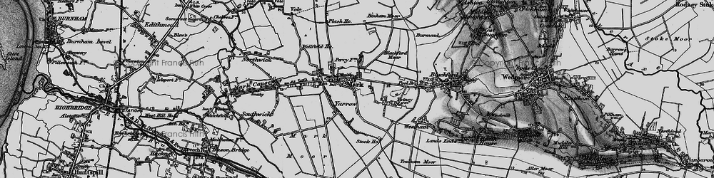 Old map of Mark in 1898
