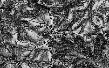 Old map of Mark Cross in 1895