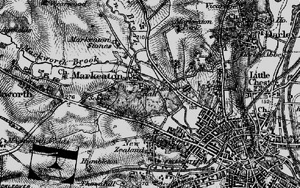 Old map of Markeaton in 1895