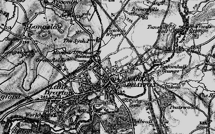 Old map of Market Drayton in 1897