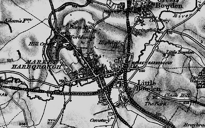 Old map of Market Harborough in 1898