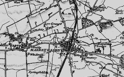 Old map of Market Rasen in 1898