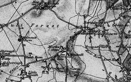 Old map of Marks Gate in 1896
