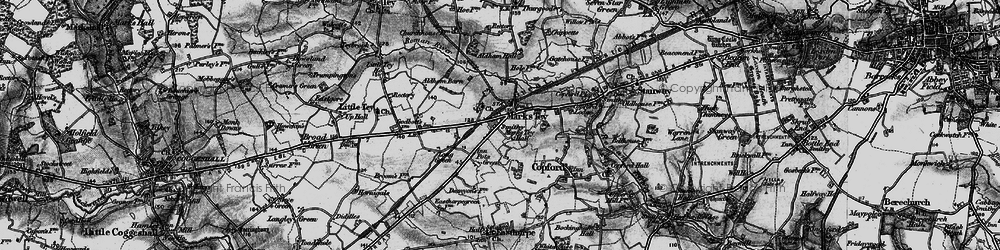 Old map of Aldham Hall in 1896